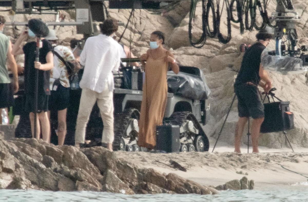 Imágenes del rodaje de La Sirenita en Cerdeña