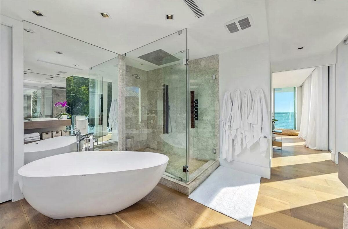 Interiores en la casa de vacaciones de Lionel Messi en Miami