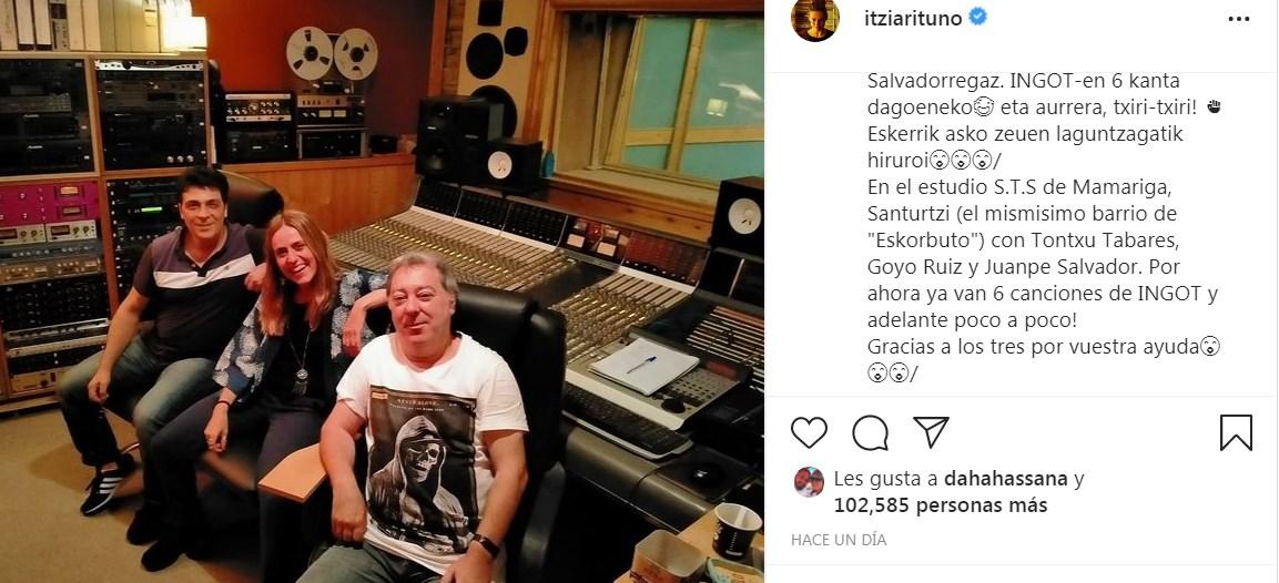 Itziar Ituño graba nuevos temas de su banda INGOT para sus fans