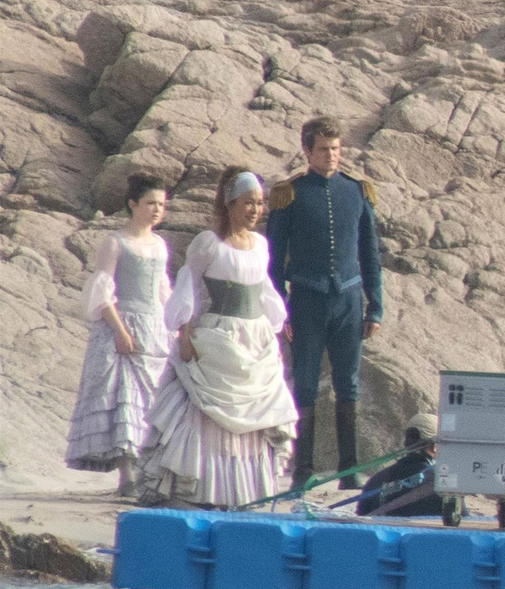 Jonah Hauer-King y Halle Bailey primeras escenas del rodaje de La Sirenita en Italia