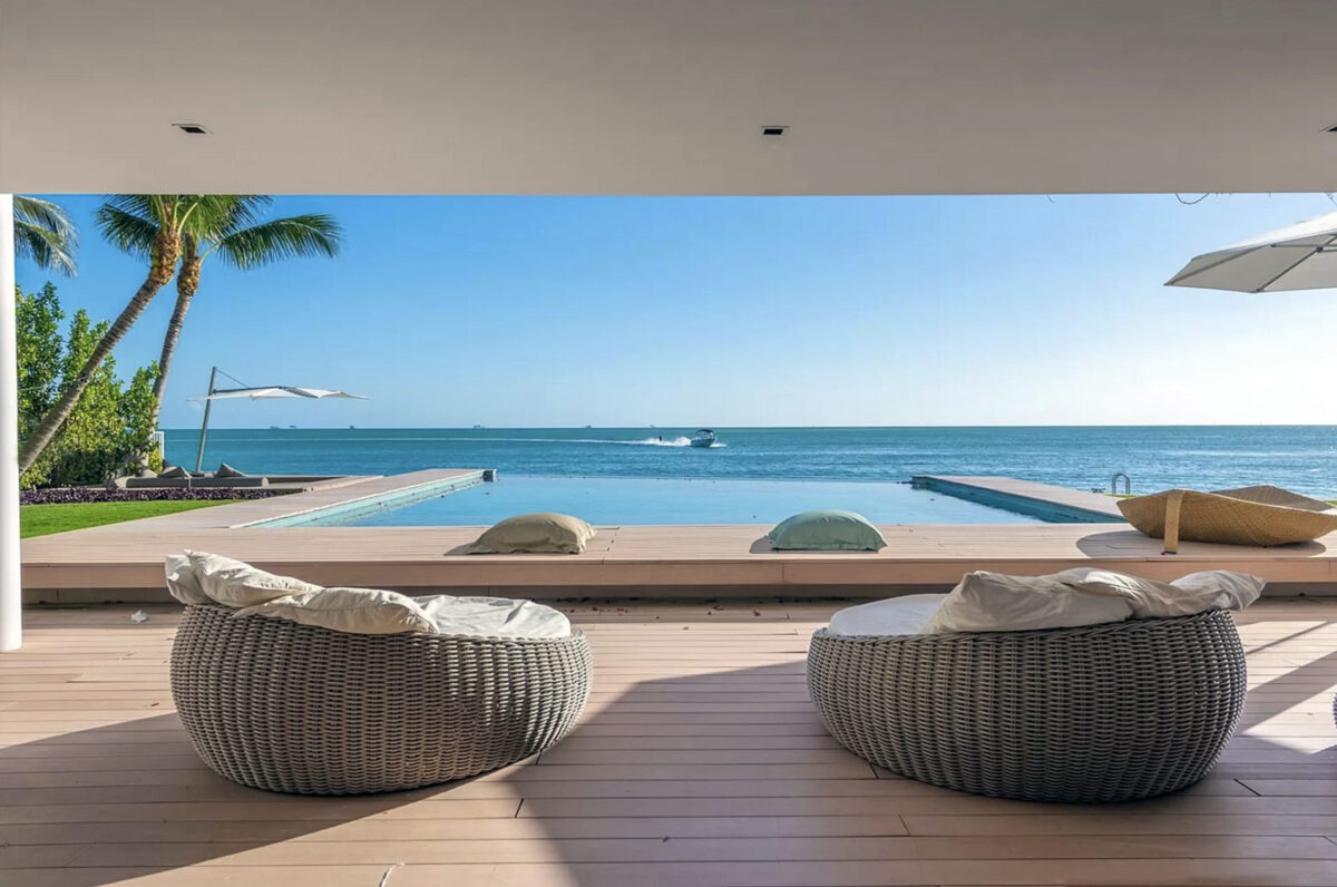Messi pasa vacaciones en familia en mansión de Miami vista desde la mansión