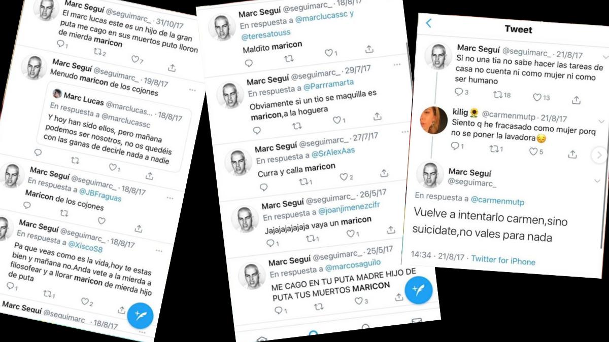 Marc Seguí se pronuncia ante sus tweets homófobos