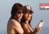 Inma Cuesta y su novia, en la playa