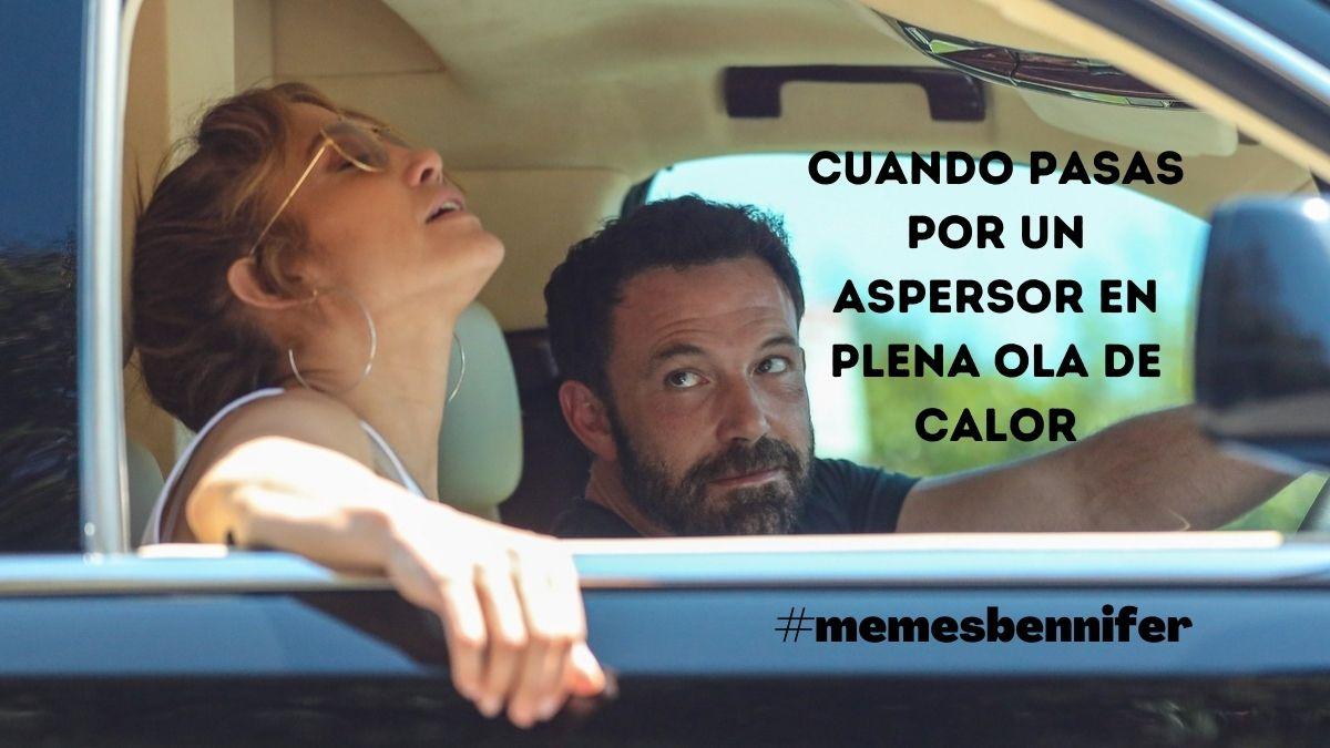 Ben Affleck y Jennifer Lopez en el coche