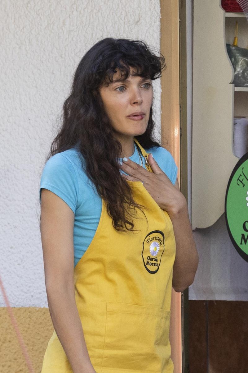 Ana Rujas en el rodaje de Cardo