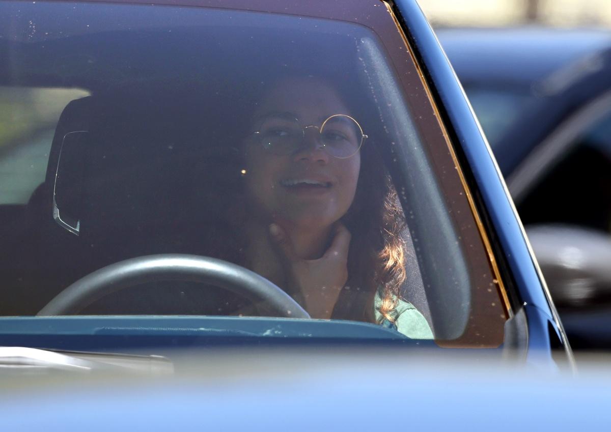 Zendaya en el coche