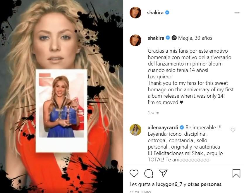 Video homenaje a Shakira por 30 años de carrera