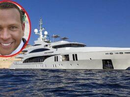 Alex Rodríguez alquila yate de 31 Millones para vacaciones en St Tropez