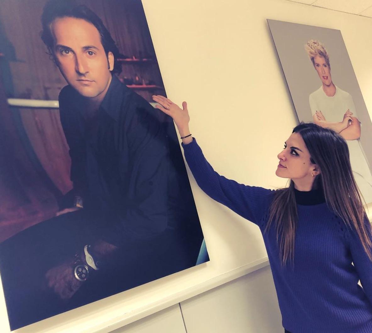 Ana Francisco en los pasillos de Mediaset