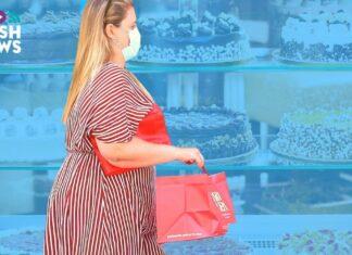 carlota corredera comprando pasteles