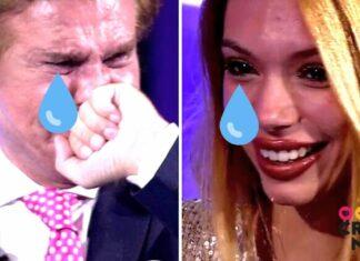 Bigote Arrocet y Alejandra Rubio llorando