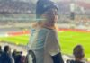 Lali Espósito en el juego Argentina Bolivia