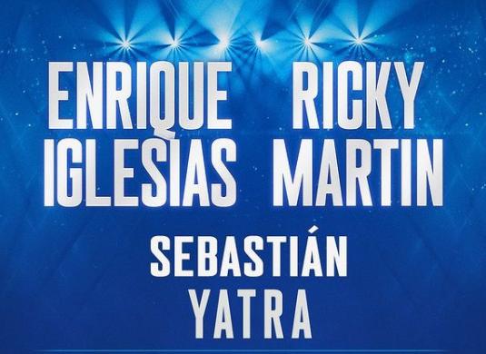 Ricky Martin, Enrique Iglesias y Sebastian Yatra.