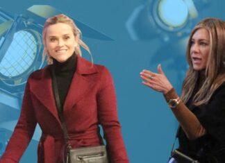 La serie de Jennifer Aniston y Reese Witherspoon, ambas en la foto rodándola, regresa el 17 de septiembre