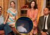 Foto promocional de The White House Plumbers. En la foto inferior, Woody Harrelson con una vía en su brazo