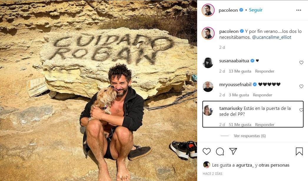 Paco León comparte foto en la playa y sus fans terminan hablando del PP