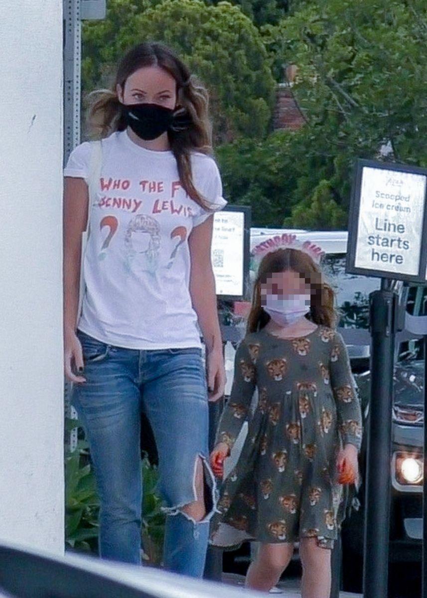 Olivia Wilde con su hija Daisy
