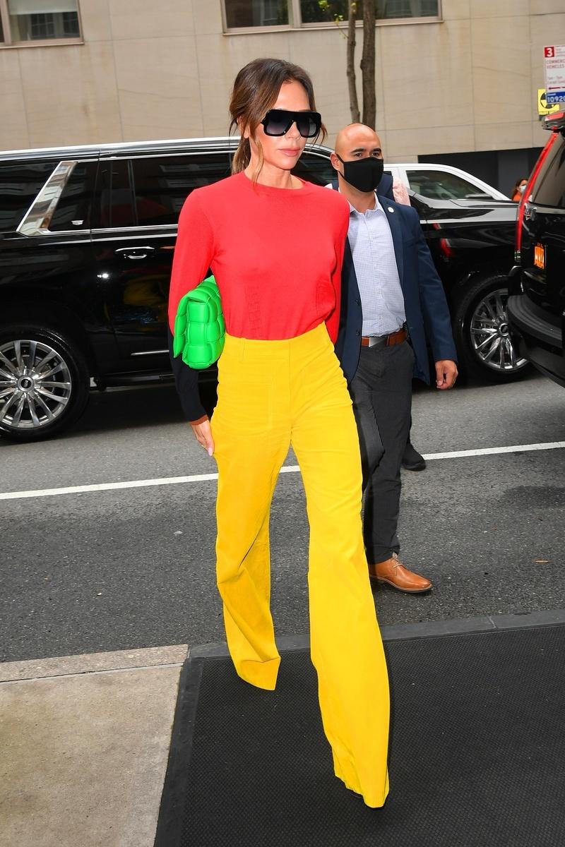 Victoria Beckham llega al estudio de Good Morning America