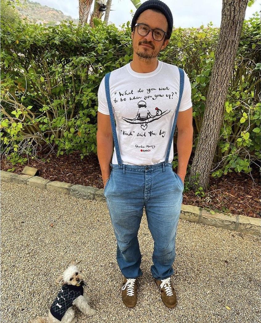 Orlando Bloom y su perro